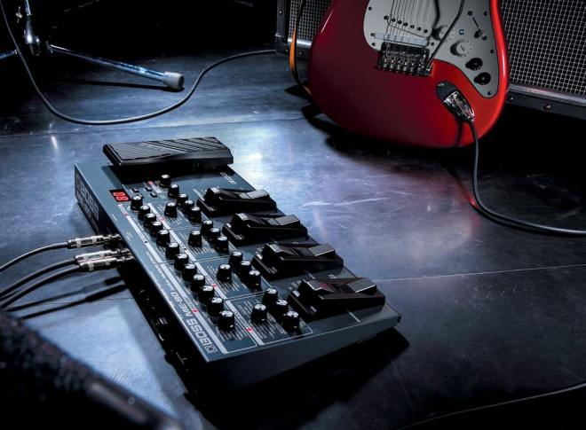 BOSS ME-80 Guitar Multiple Effects On Stage with Guitar