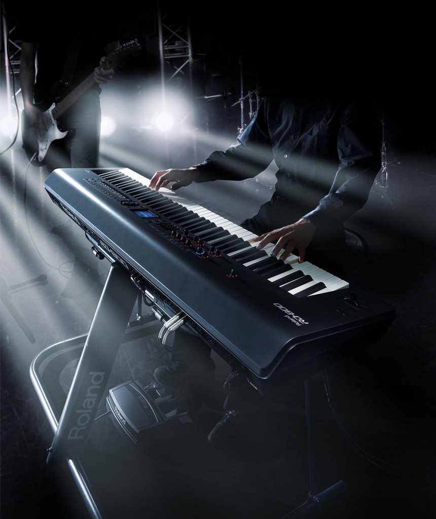 RD-800 Stage Piano on stage with band