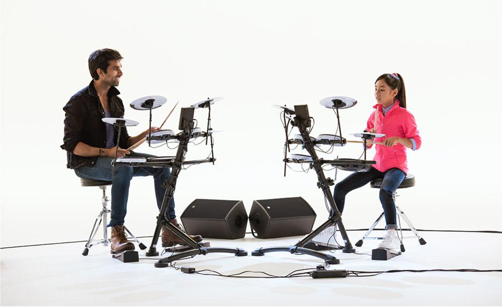 Kaz Rodriguez and Kanade Sato in the TD-1KV V-Drums Video