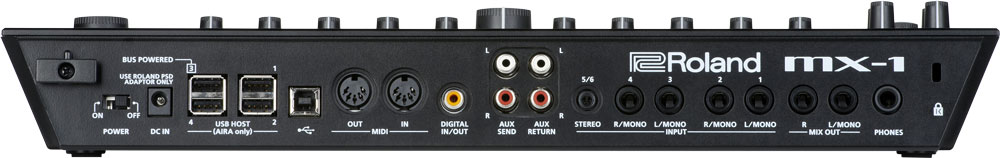 Roland MX-1 Mix Performer Rear Panel