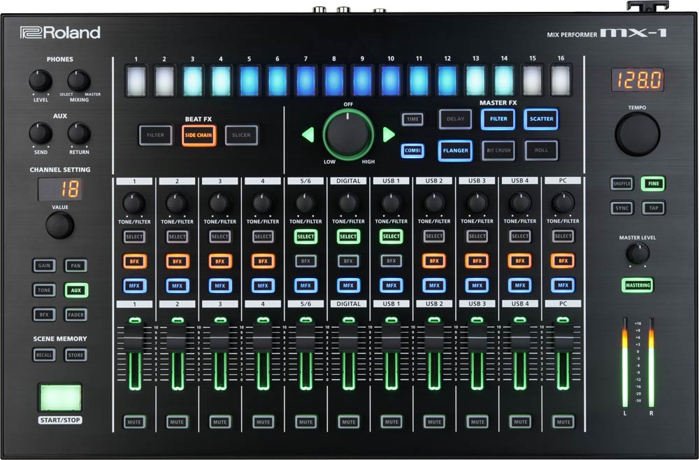 Roland MX-1 Mix Performer Top Panel