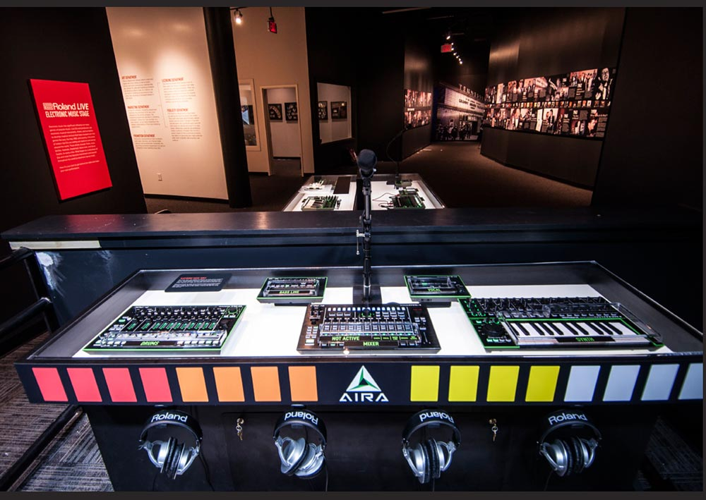 Roland LIVE electronic music stage at the GRAMMY Museum Gallery in Nashville.