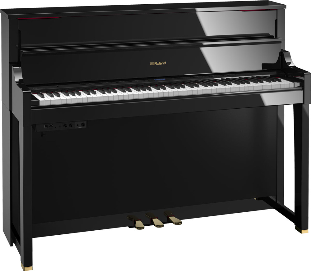 Roland LX-17 Digital Piano in Polished Ebony finish.