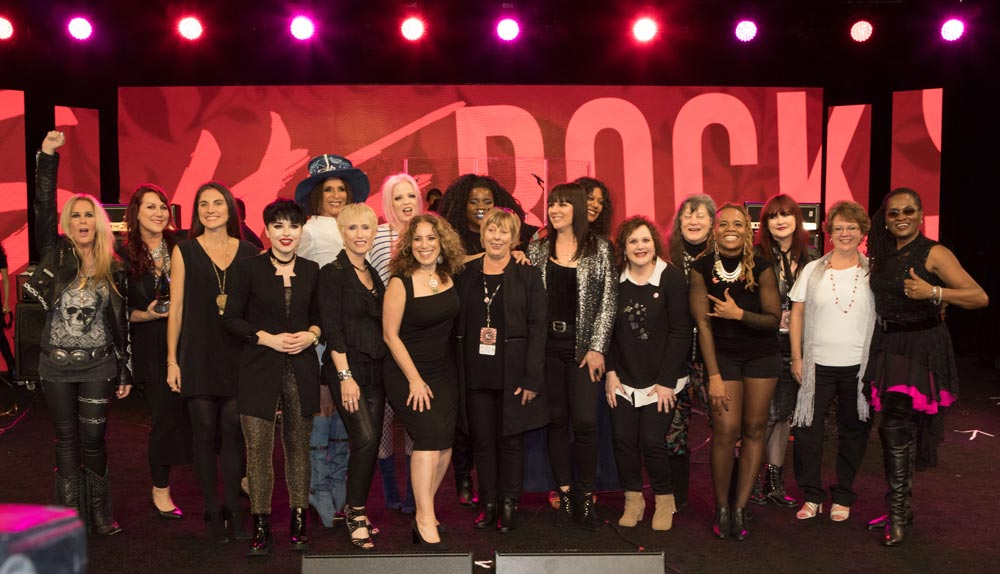 Honorees at the 2017 She Rocks Awards.