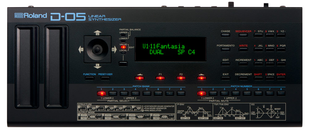 The D-05 Linear Synthesizer authentically recreates the D-50 in a compact and versatile Roland Boutique module.