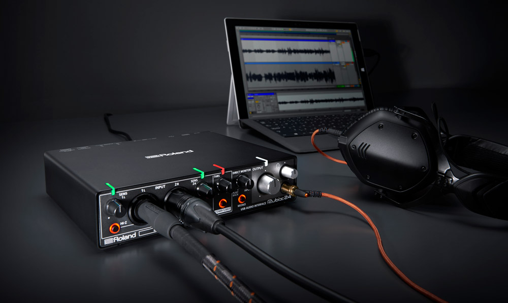 With it's four outputs and compact size, the Rubix24 is an ideal companion for recording and performing with a laptop.