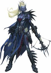 A drow using one of the hand crossbows for which their race is well-known. (Image taken from the Dungeons & Dragons Wiki