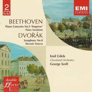 Beethoven / Dvorak: Emil Gilels / George Szell, CD cover