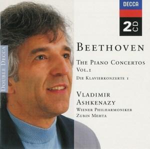Beethoven: Piano concertos, vol.I, Ashkenazy, CD, cover
