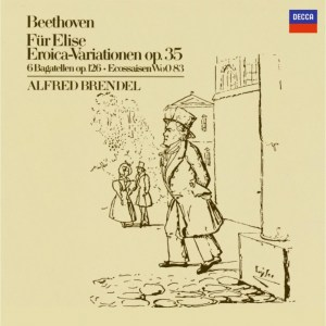 Beethoven: Für Elise, Eroica Variations, Bagatelles, Brendel, CD, cover