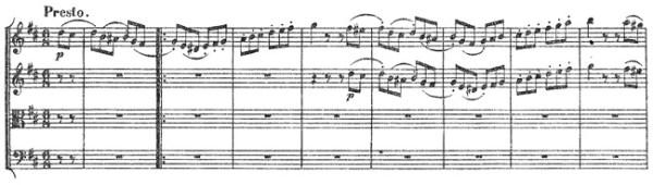 Beethoven, string quartet op.18/3, mvt.4, score sample