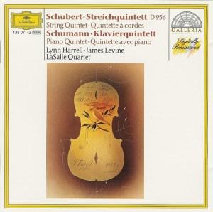 Schubert: string quintet; Schumann: piano quintet - LaSalle, Levine, Harrell, CD cover