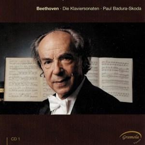 Beethoven: The Piano sonatas 1, Badura-Skoda, CD cover