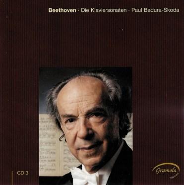 Beethoven: The Piano sonatas 3, Badura-Skoda, CD cover