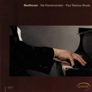 Beethoven: The Piano sonatas 7, Badura-Skoda, CD cover