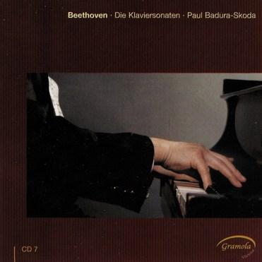 Beethoven: The Piano sonatas 7, Badura-Skoda, CD cover