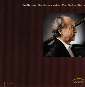 Beethoven: The Piano sonatas 9, Badura-Skoda, CD cover