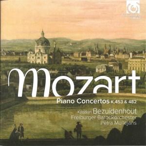 Mozart: Piano concertos K.453 & 482, Bezuidenhout/Müllejans, CD cover