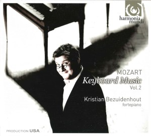 Mozart: Keyboard works, vol.2 — Bezuidenhout, CD cover