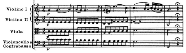 Mozart: Piano concerto K.453, mvt.2, score sample