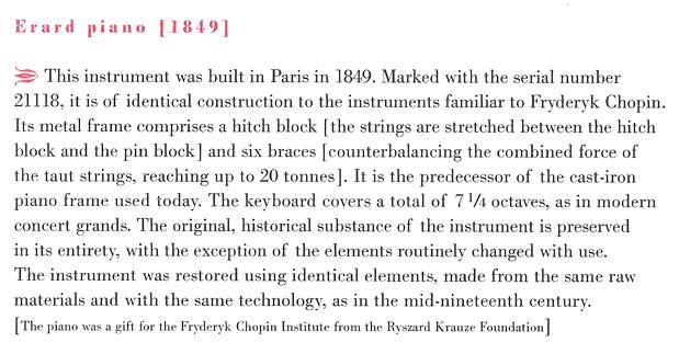 Erard #21118 (1849), description from CD booklet, © 2013, NIFC