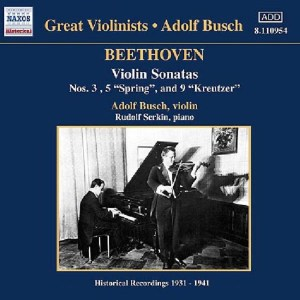 Beethoven: Violin sonatas 3 & 5, Busch, Serkin, CD cover