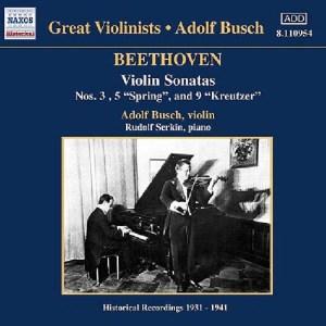 Beethoven: Violin sonatas 3 & 5, Busch, Serkin, CD cover