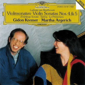 Beethoven: Violin sonatas vol.2, Kremer, Argerich, CD cover