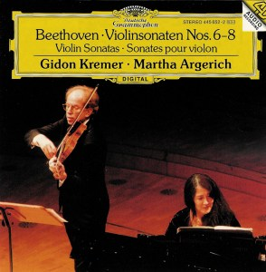 Beethoven: Violin sonatas vol.3, Kremer, Argerich, CD cover