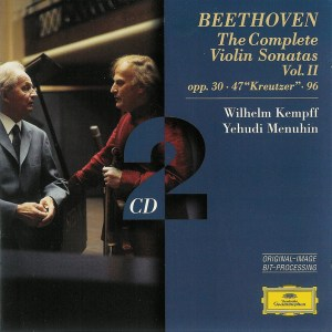 Beethoven: Violin sonatas vol.2, Menuhin, Kempff, CD cover