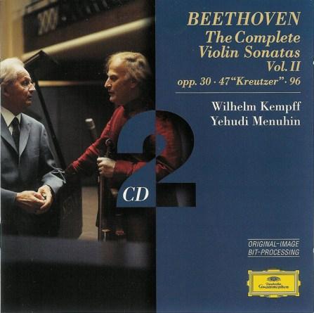 Beethoven: Violin sonatas vol.2, Menuhin, Kempff, CD cover