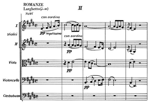 Chopin: piano concerto No.1 eminor, op.11, score sample, mvt.2