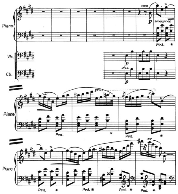 Chopin: piano concerto No.1 eminor, op.11, score sample, mvt.3, Rondo theme