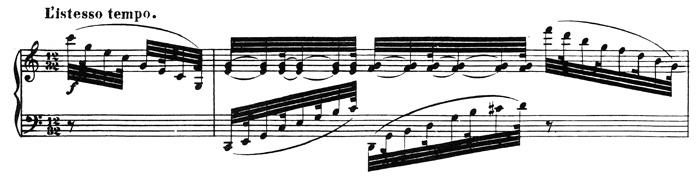 Beethoven, piano sonata No.32 C minor, op.111: mvt 2, score sample 2: L'istesso tempo