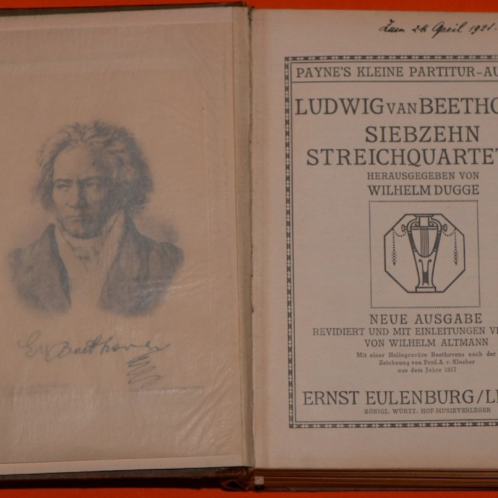 Beethoven: String quartets, antique score, pages 0 & Title