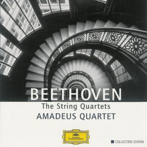 Beethoven, string quartets, Amadeus Quartet, CD cover