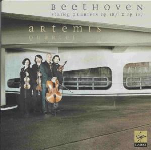 Beethoven, string quartets opp.18/1 & 127, Artemis Quartet, CD cover