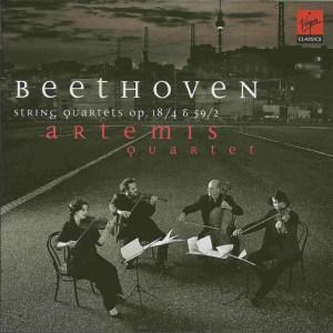 Beethoven, string quartets opp.18/4 & 59/2, Artemis Quartet, CD cover