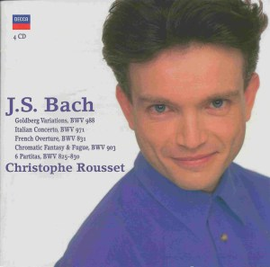 Bach: Goldberg Var., Ital.Conc., Partitas, Rousset, CD cover