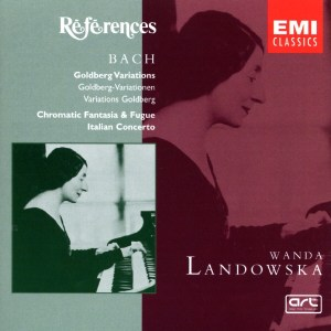 Bach: Goldberg var., Chromatic Fant&Fugue, Ital.Conc., Landowska, CD cover