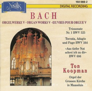 Bach: Organ Works, vol.V — Koopman, CD cover