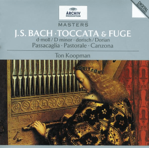 Bach: Toccata & Fugue — Koopman, CD cover