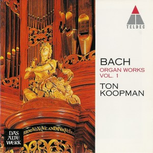 Bach: Organ Works, vol.1 — Koopman, CD cover
