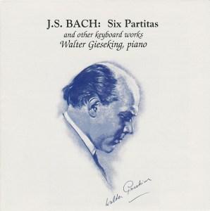 Bach: 6 Partitas, Ital.conc. etc., Gieseking, CD cover