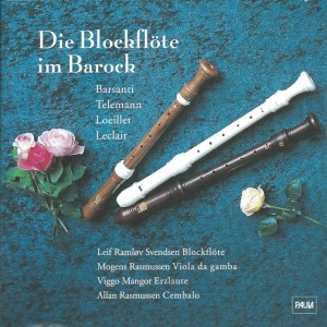 Die Blockflöte im Barock (the recorder in the Baroque), Svendsen, CD cover