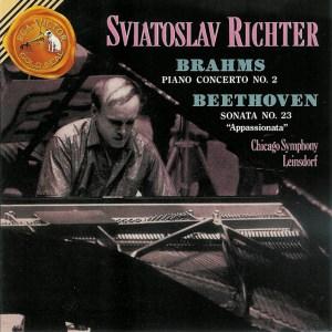 Brahms: Piano Concert No.2 op.83; Beethoven: Piano Sonata op.57 — Richter, CD cover