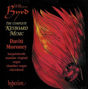 Byrd: Keyboard music — Moroney; CD cover