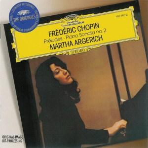 Chopin: Préludes, Sonata 2, Argerich, CD cover