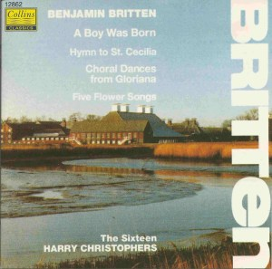 Britten: A Boy was born, Christophers, CD, cover