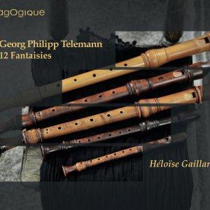 Telemann: 12 Fantasias (recorder), Gaillard, CD cover